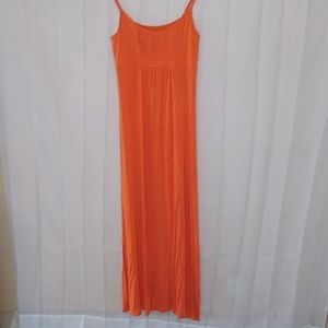 Calvin klein orange spaghetti dress 4